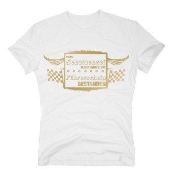 Mein Schutzengel fliegt immer mit - Führerschein bestanden - Herren T-Shirt - weiß