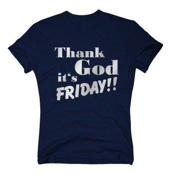 Thank God it's Friday - Herren T-Shirt - dunkelblau