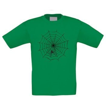 Spinnennetz - Kinder T-Shirt - grün