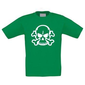 Totenkopf - Kinder T-Shirt - grün