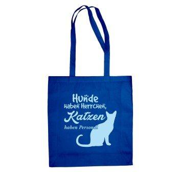 Hunde haben Herrchen, Katzen haben Personal - Jutebeuel - blau