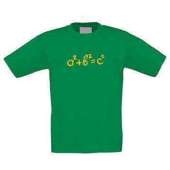 a²+b²=c² - Kinder T-Shirt - grün