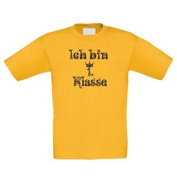 Ich bin 1. Klasse - Kinder T-Shirt - gelb