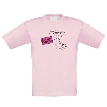 Schulkind - Kinder T-Shirt - rosa