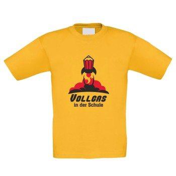 Vollgas in der Schule - Kinder T-Shirt - gelb