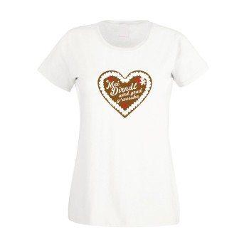 Mei Dirndl wird grad g'woschn - Damen T-Shirt - weiß