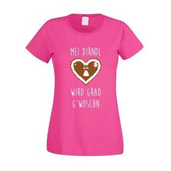 Mei Dirndl wird grad g'woschn - Damen T-Shirt - pink