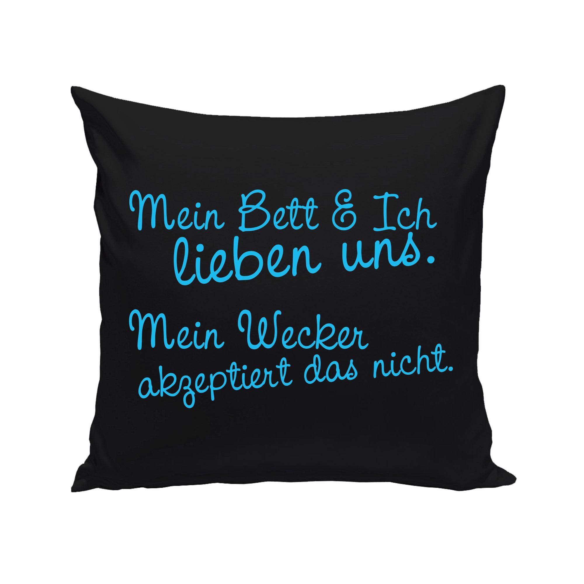 Dekokissen Mein Bett Und Ich Lieben Uns Ebay