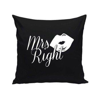 Mrs Right - Deko Kissen - schwarz