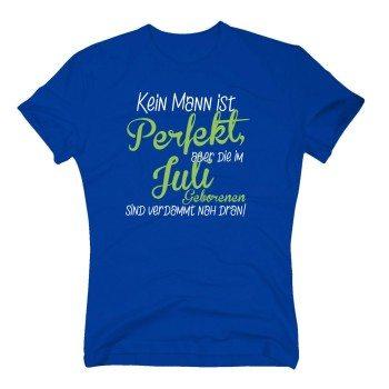 Kein Mann ist perfekt, aber die im Juli Geborenen sind verdammt nah dran - Herren T-Shirt - blau