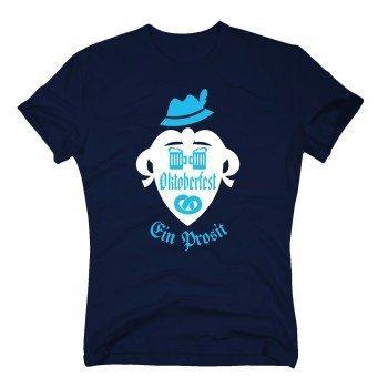 Oktoberfest Ein Prosit - Herren T-Shirt - dunkelblau