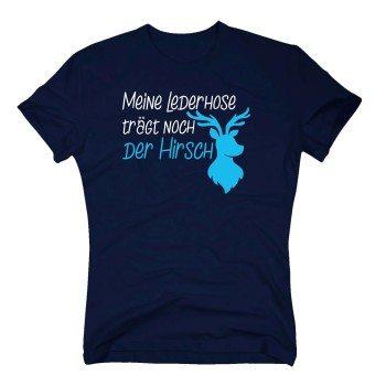 Meine Lederhose trägt noch der Hirsch - Herren T-Shirt - dunkelblau
