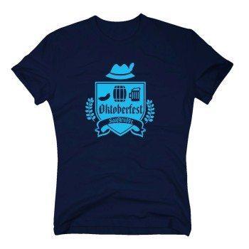 Oktoberfest Saufgruppe - Herren T-Shirt - dunkelblau