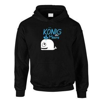 König der Meere - Kinder Hoodie - schwarz