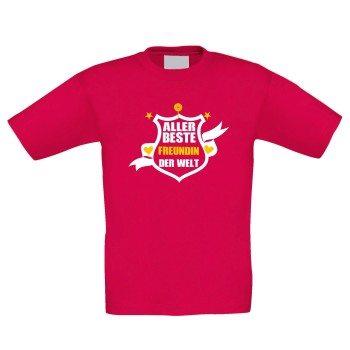 Aller beste Freundin der Welt - Kinder T-Shirt - rot