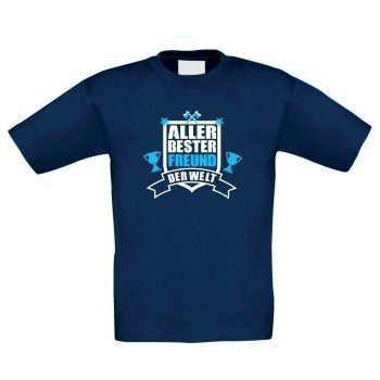 Aller bester Freund der Welt - Kinder T-Shirt - dunkelblau