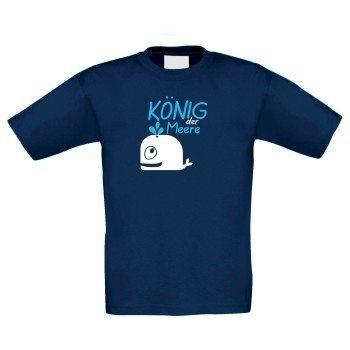 König der Meere - Kinder T-Shirt - dunkelblau
