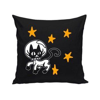 Space Cat - Deko Kissen - schwarz