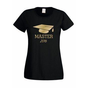 Master T-Shirt Damen T-Shirt Abschluss MASTER 2016