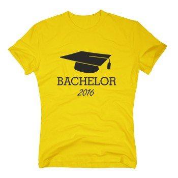 Bachelor T-Shirt - Herren Abschluss Bachelor 2016 rot