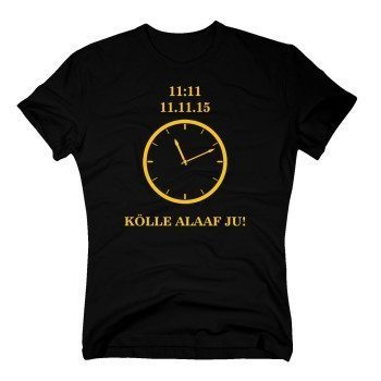 Kölle Alaaf Ju - 11:11 Uhr - Karnevals T-Shirt für Herren - schwarz