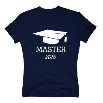 Master 2016 - Herren T-Shirt zum Uni Abschluss - dunkelblau