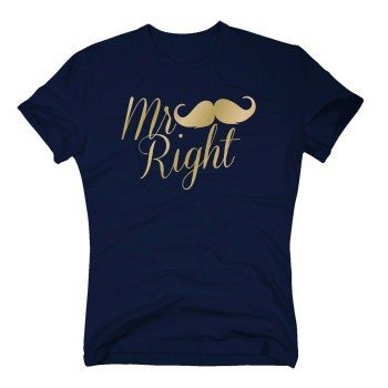 Mr Right - Herren T-Shirt - dunkelblau