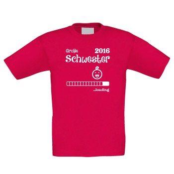 Große Schwester 2016 loading - Kinder T-Shirt - pink