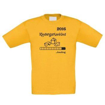 Kindergartenkind 2016 loading - Kinder T-Shirt - gelb
