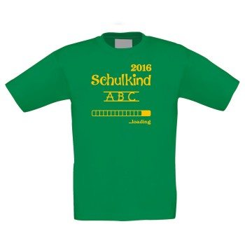 Schulkind 2016 loading - Kinder T-Shirt - grün
