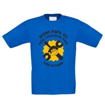 Wenn Papa es nicht reparieren kann, kann es keiner - Kinder T-Shirt - blau