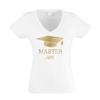 Master 2016 - Damen T-Shirt zum Uni Abschluss - weiß