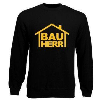 Bauherr - Herren Sweatshirt zum Richtfest - schwarz