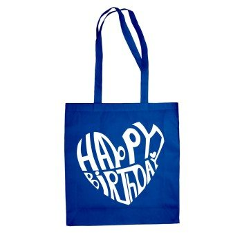 Happy Birthday Design - Baumwolltasche Jutebeutel