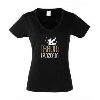 Traumtänzerin - Damen T-Shirt - schwarz