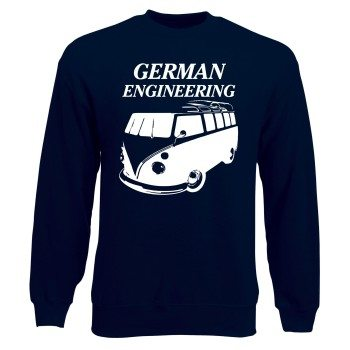 VW Bulli Sweatshirt German Engineering Bulli dunkelblau