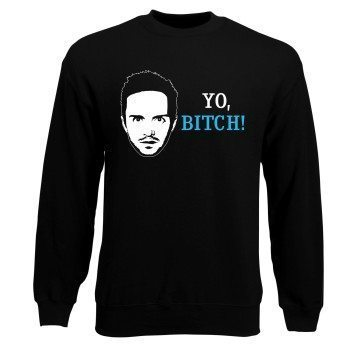 Herren Sweatshirt Breaking Bad Yo Bitch