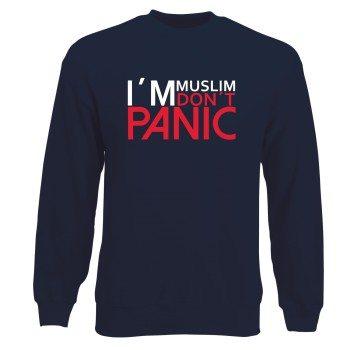 I'm Muslim don't panic - Herren Sweatshirt - dunkelblau