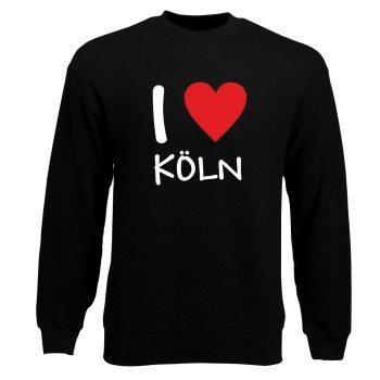 Köln Sweatshirt Herren - I Love Köln
