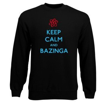 Keep Calm and Bazinga - Herren Sweatshirt