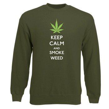 Keep calm and smoke weed Sweatshirt Herren