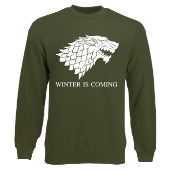 Game of Thrones Sweatshirt - Winter is coming olive
