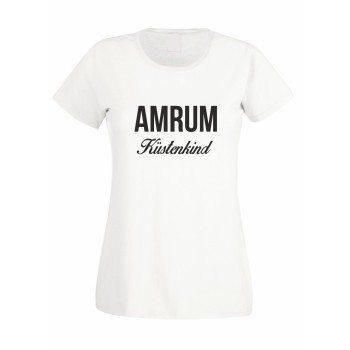 Amrum Küstenkind - Damen T-Shirt - weiß