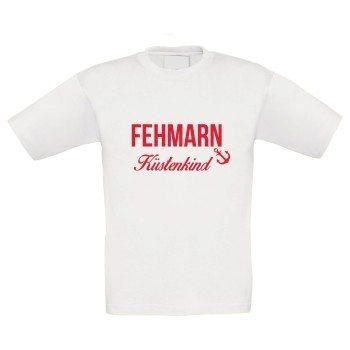 Fehmarn Küstenkind - Kinder T-Shirt - weiß