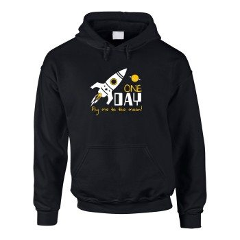 Fly me to the Moon - Herren Hoodie - schwarz