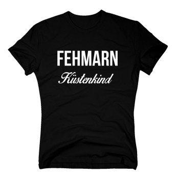 Fehmarn Küstenkind - Herren T-Shirt - schwarz