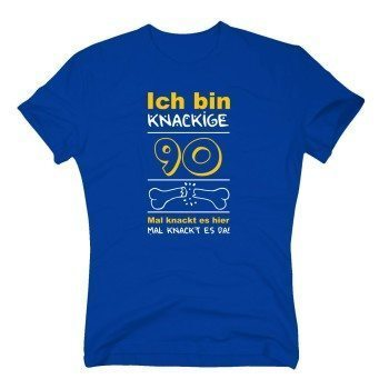 Ich bin knackige 90 - Herren T-Shirt - Geburtstag Geschenkidee Großvater Opa