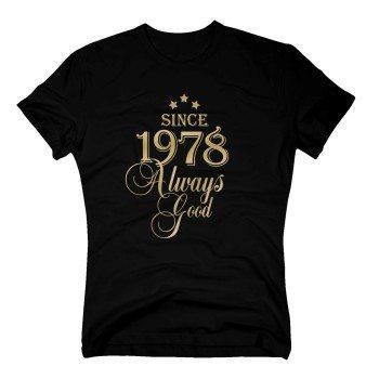 herren-t-shirt-since-1978-always-good-schwarz-gold