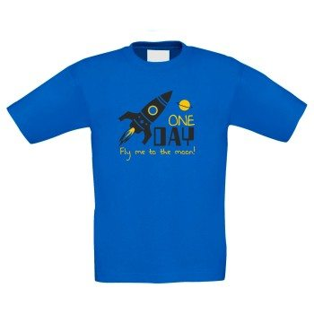 Fly me to the Moon - Kinder T-Shirt - blau