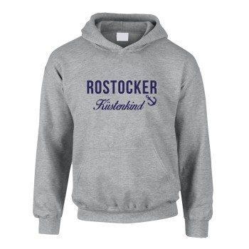 Rostocker Küstenkind - Kinder Hoodie - grau